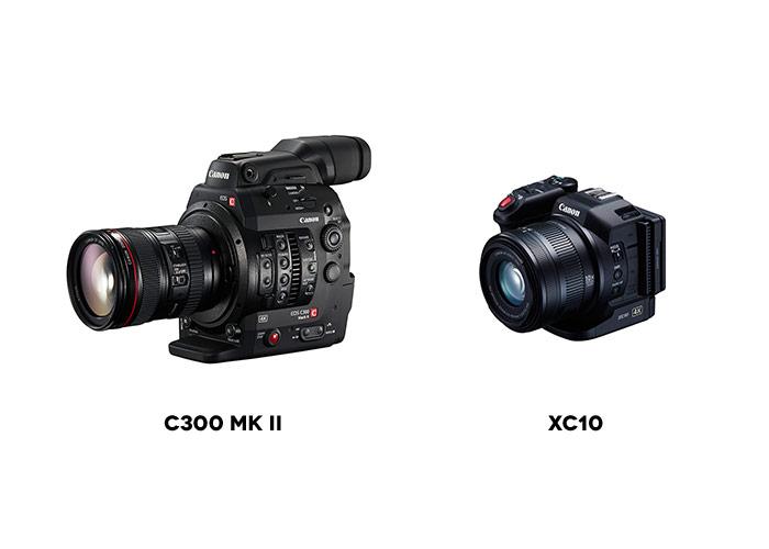 New Canon C300 II & XC10 4k Cameras