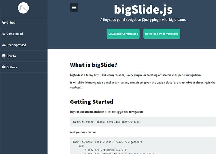 bigSlide-30-jquery-plugins-for-web-design