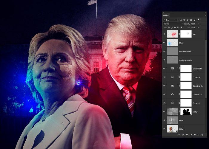 09-hillary-v-trump-poster-photoshop-tutorial