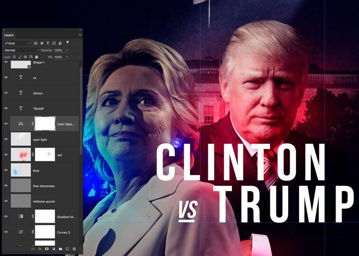 11-hillary-v-trump-poster-photoshop-tutorial