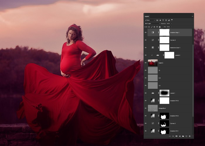05-flowing-red-dress-effect-photoshop