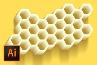 honeycomb-illustration-illustrator-tutorial