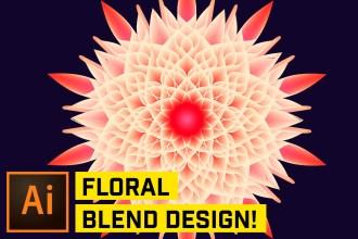 Blended Floral Effects in Adobe Illustrator CC
