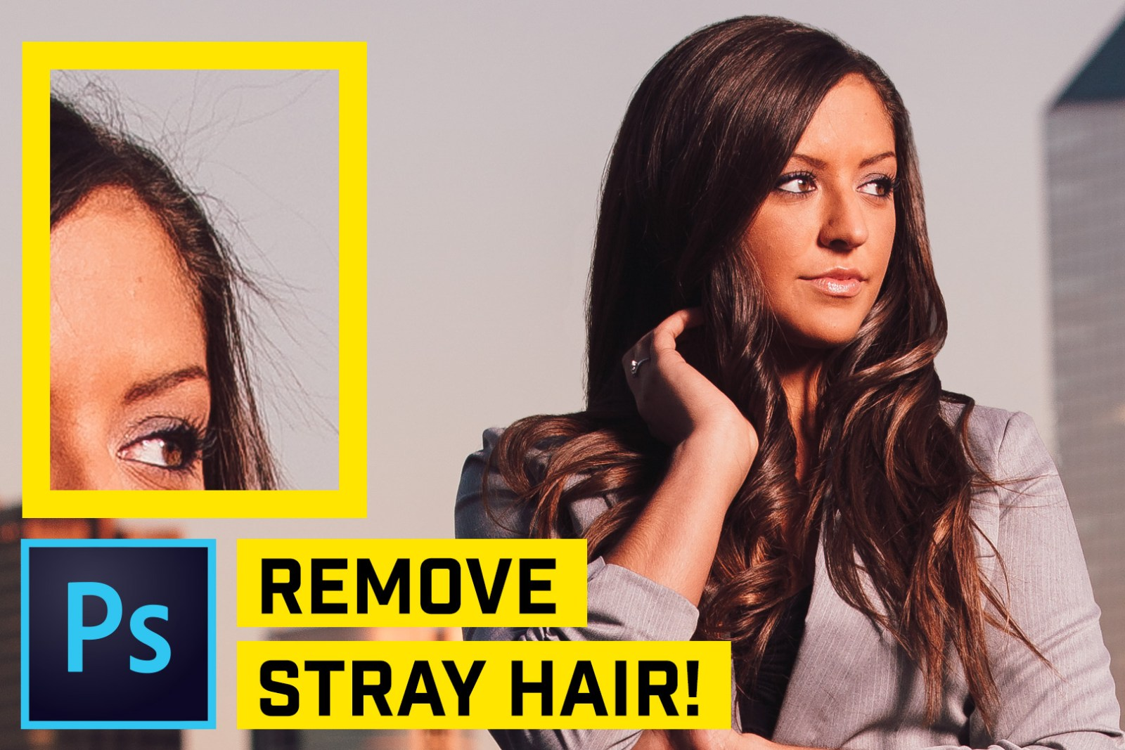 Remove FLYAWAY Stray Hairs in Photoshop CC FAST!
