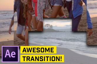 Smooth Split-Screen Parallax Transition Effect