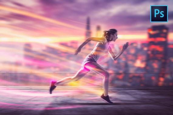 Athlete Running Energy PHOTO MANIPULATION Photoshop Tutorial