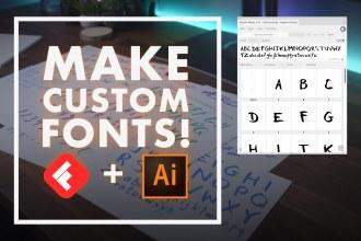 Make Custom Fonts in Adobe Illustrator with Fontself!