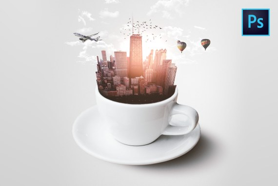 City-in-a-Cup PHOTO MANIPULATION Photoshop Tutorial