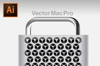 Create Realistic NEW Mac Pro in Adobe Illustrator