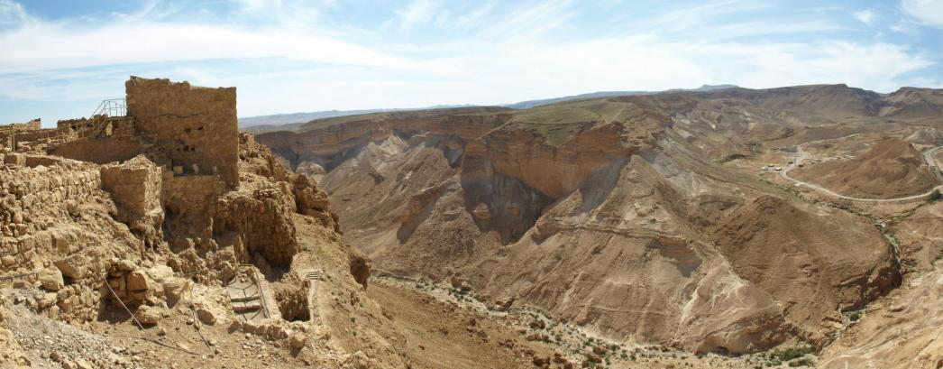 Widok z Masady