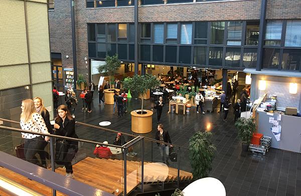 View of Haaga-Helia`s lobby