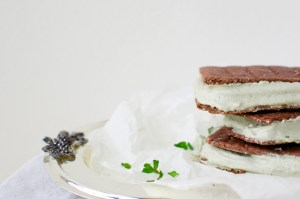 Mint Chocolate Ice Cream Sandwiches (gluten & dairy free) + BIG NEWS!