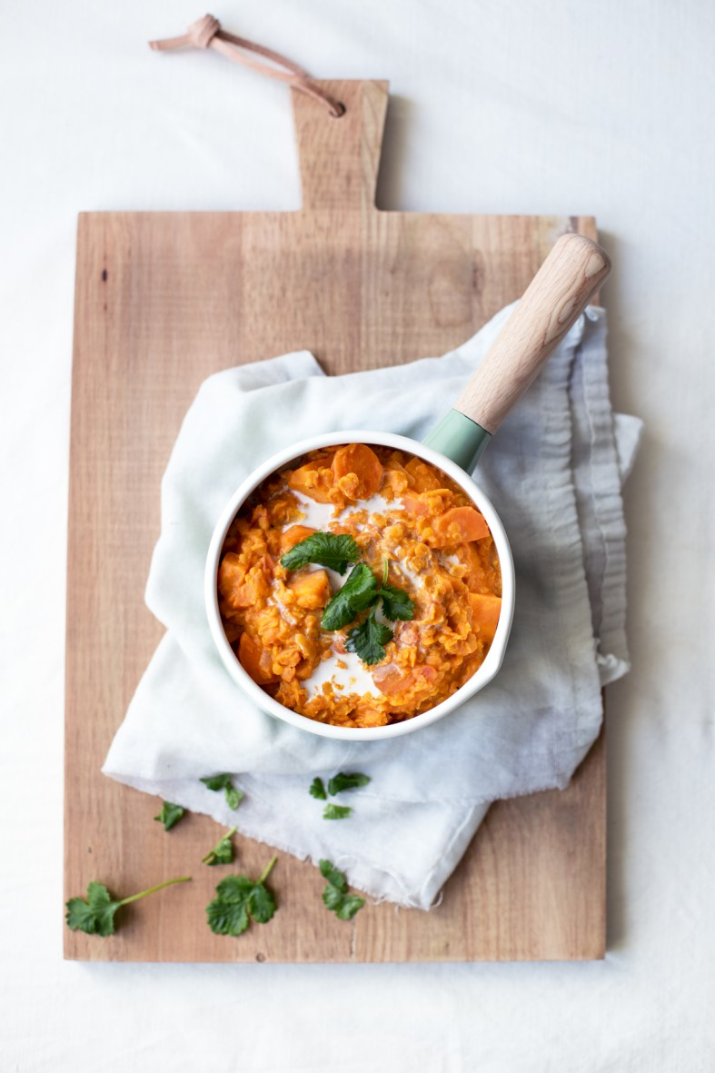 Sweet Potato, Carrot & Lentil Stew
