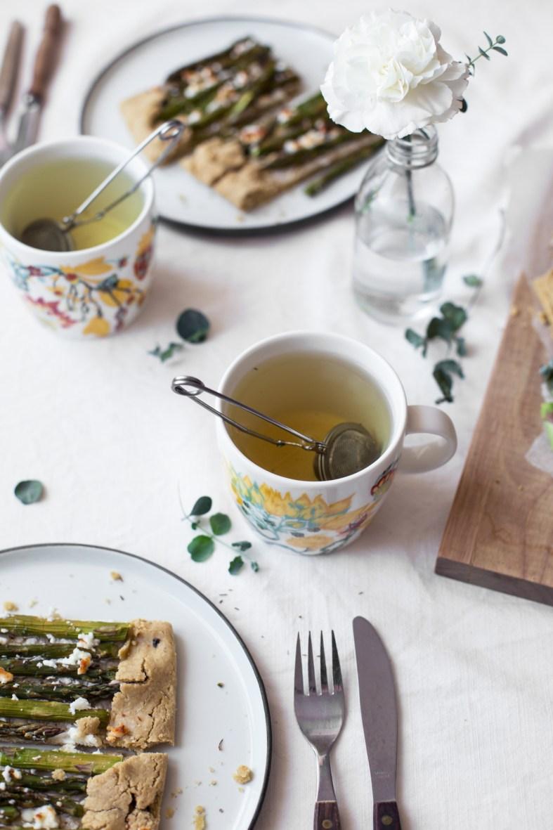 Asparagus & Goat Cheese Galette (gluten-free)