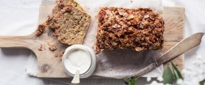 Rhubarb Bread w/ Coconut Cashew Cream
