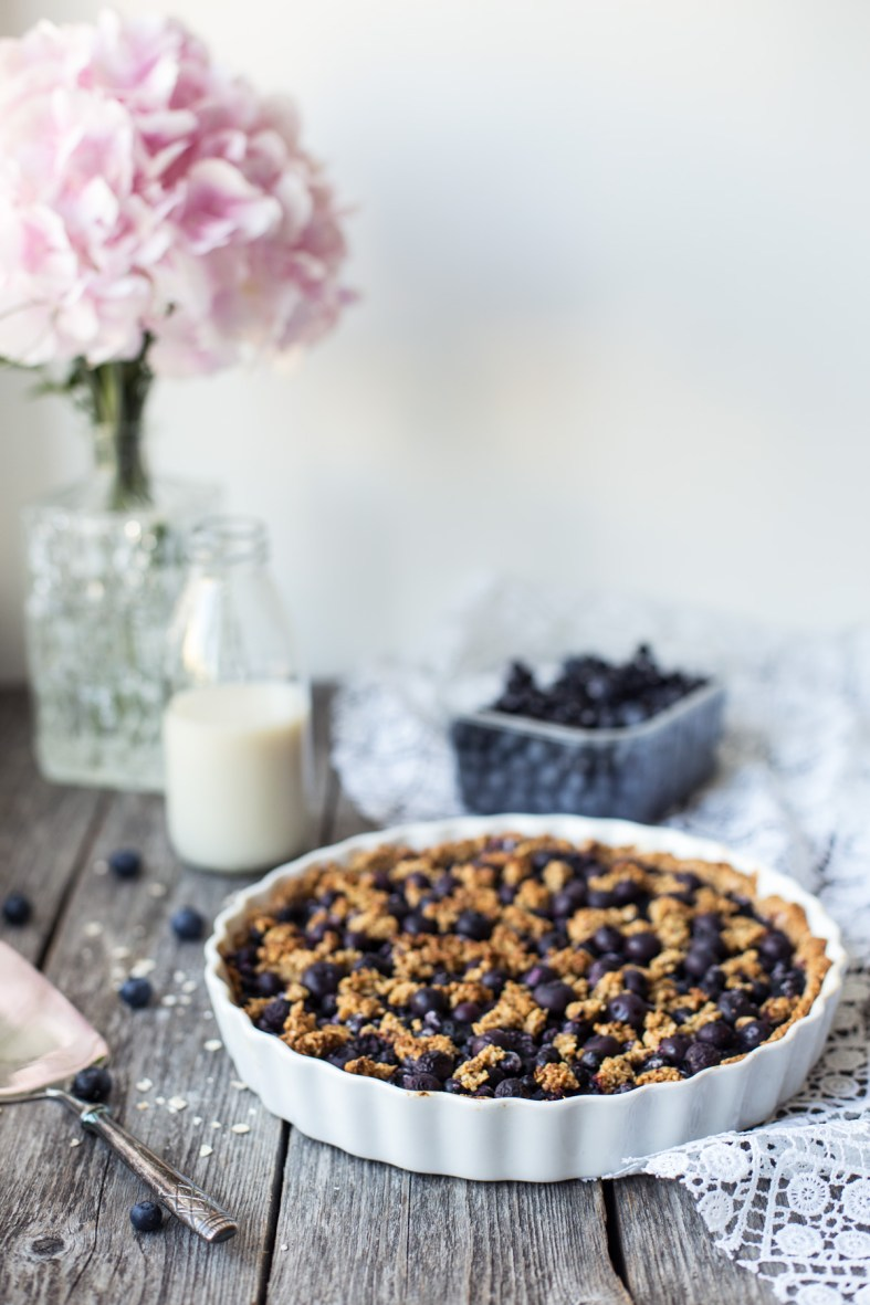 Gluten-free + Vegan Blueberry Pie | tuulia blog
