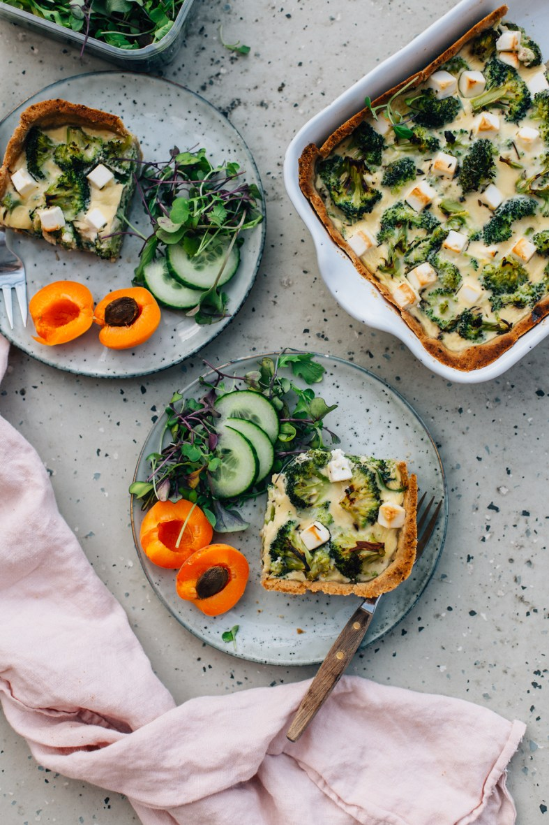 Spinach, Broccoli & Feta Quiche (GF) | tuulia blog