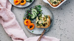 Spinach, Broccoli & Feta Quiche (GF)