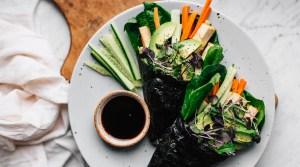 No-Rice Nori Rolls w/ Marinated Tofu & Veggies