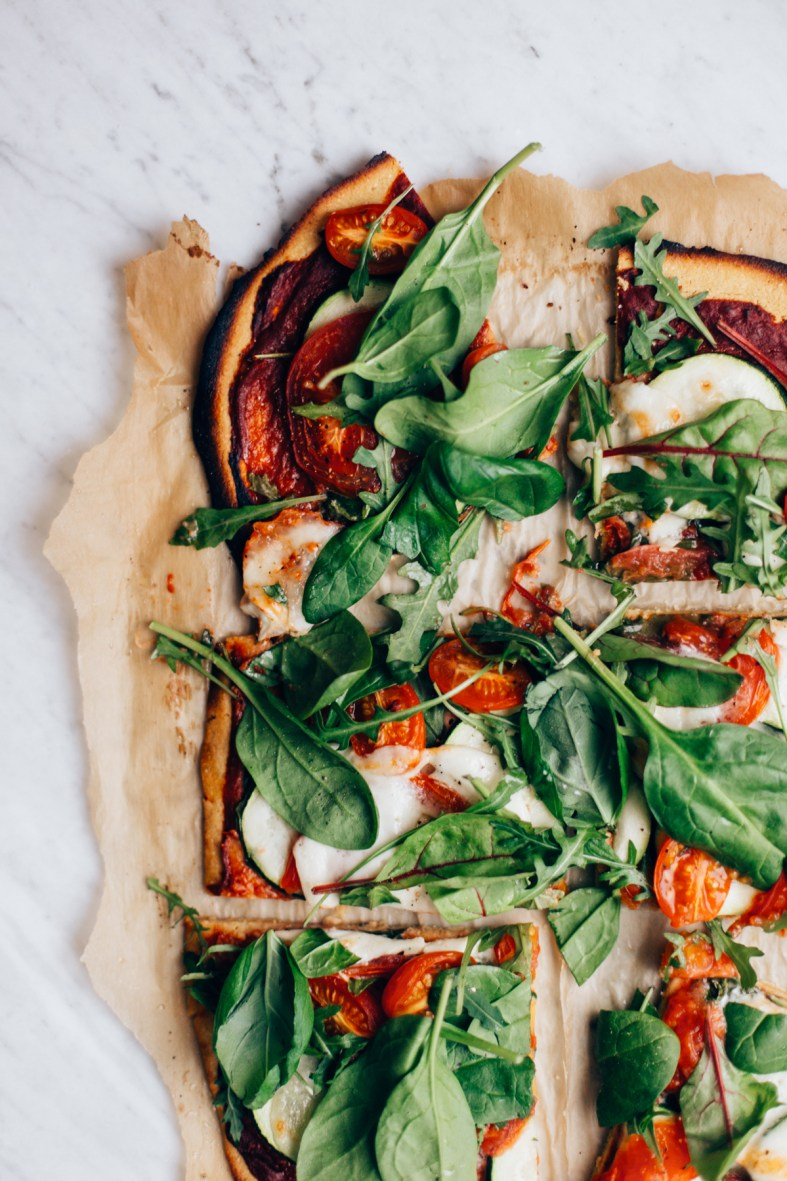 Chickpea Flour Pizza | tuulia blog