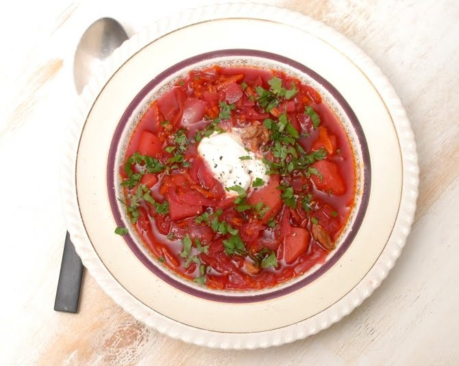 Punane supp, tuntud kui borš :)