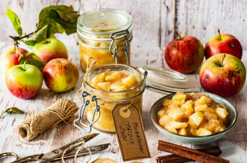 Purkitehtud õunakoogitäidis