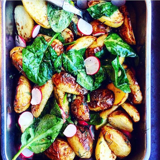 Rostad fransk potatissallad