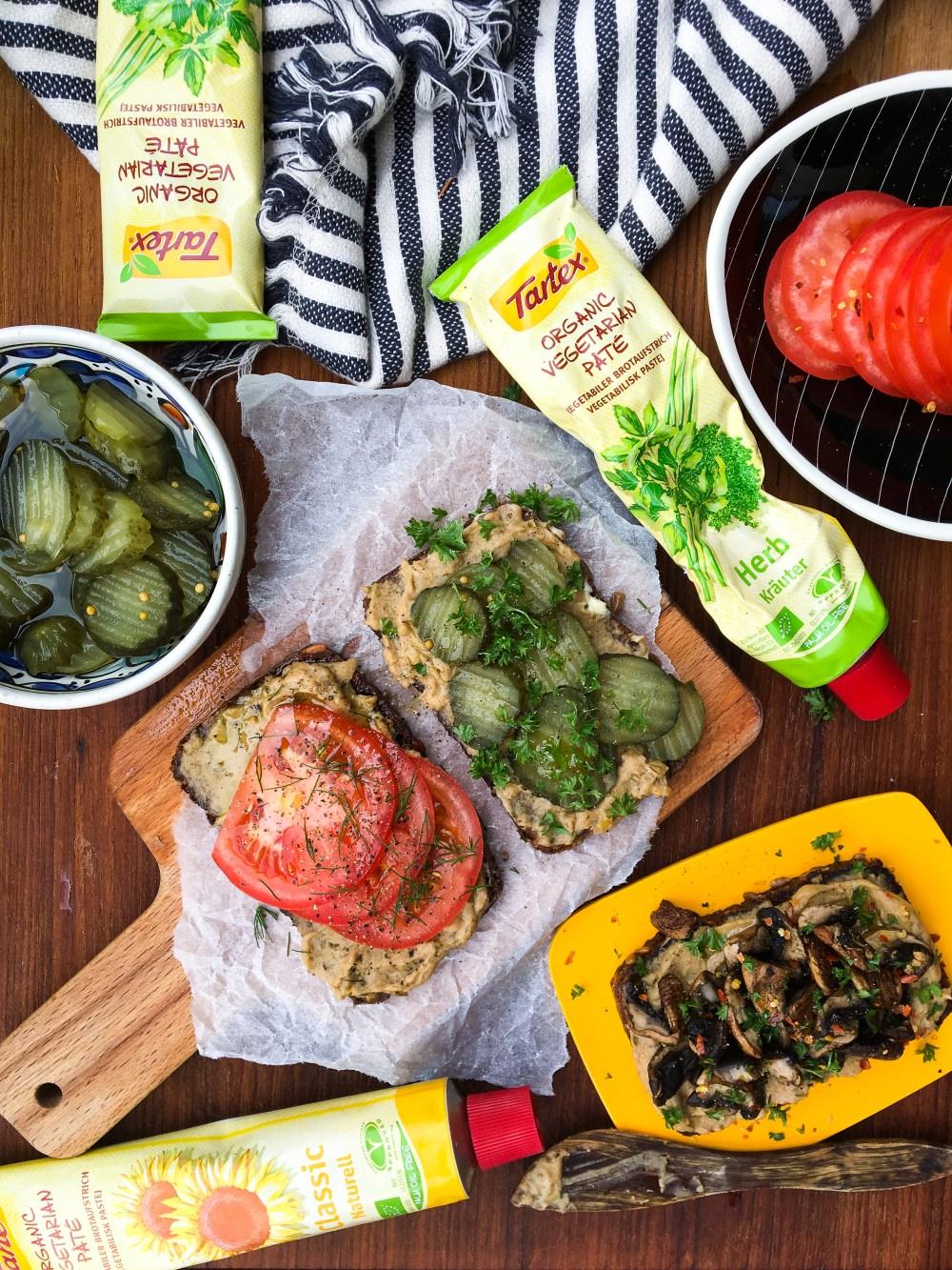 tartex olika veganska och vegetariska pålägg