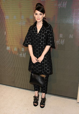Winona Ryder at Marni at H&M Collection Launch