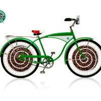 Ahora Starbucks instala publicidad en bicicletas