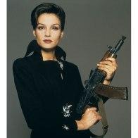 Famke Janssen as Xenia Onatopp in GoldenEye in 1995