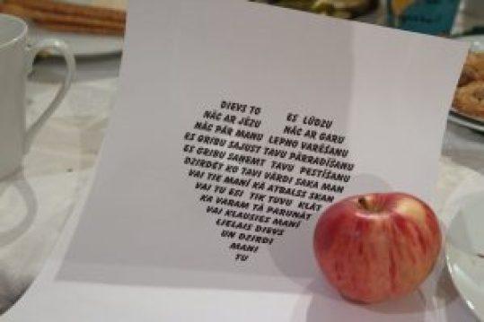 Vizmas Šulcas dzeja. Foto: Dace Salmane