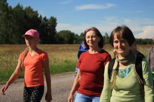 Māsa Inese Šteina (no labās) svētceļojumā uz Igati. Foto: Aija Volka
