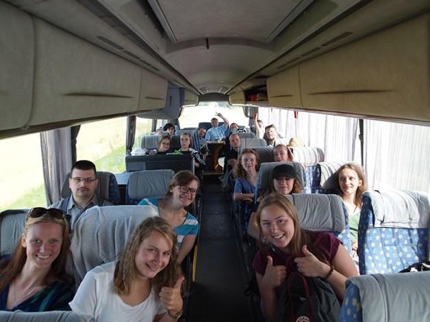 Mūsu grupa ceļā uz Poliju