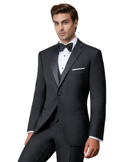 Black Connor is a slim fit one button tuxedo