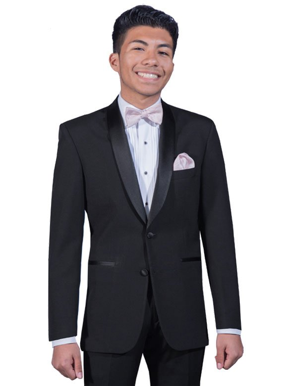 Black Cyprus shawl tuxedo by After Six Formals