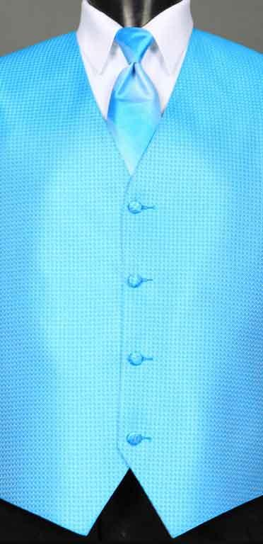 Blue Ice Devon vest with Blue Ice Ombre Windsor tie