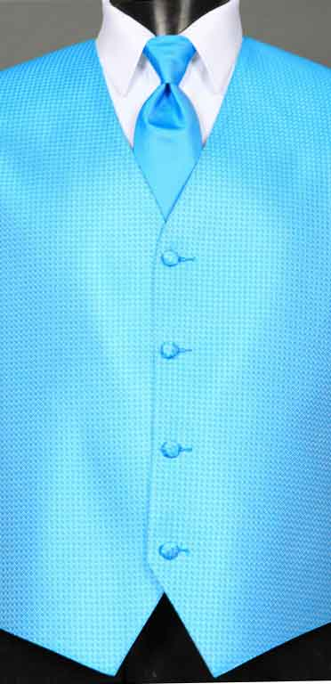 Blue Ice Devon vest with Blue Ice Windsor tie