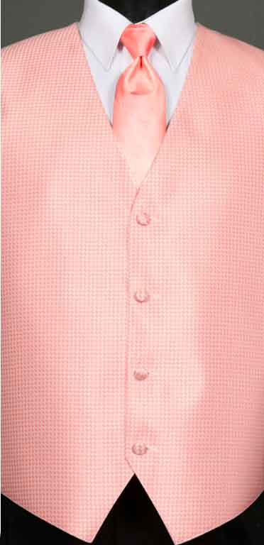 Candy Pink Devon Vest with Candy Pink Ombre Windsor tie
