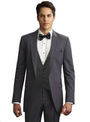 Charcoal Grey Bartlett Tuxedo by Allure For Men