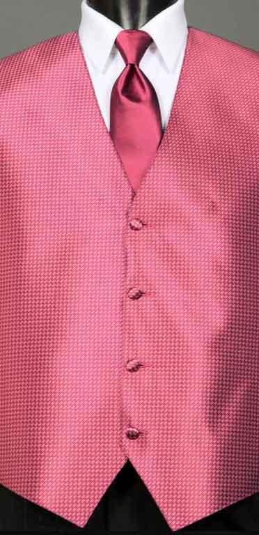 Fuchsia Devon Vest with Fuchsia Windsor tie