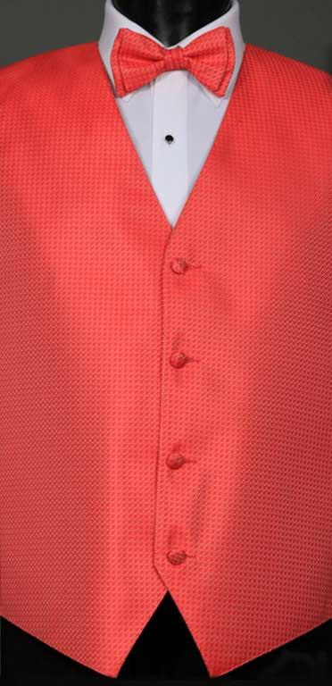 Guava Devon Vest with matching bow tie