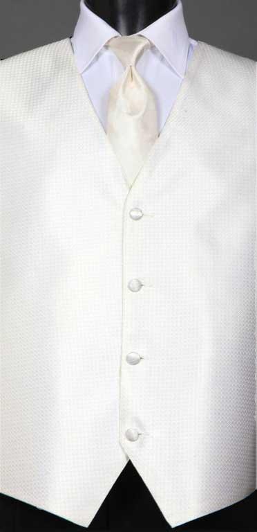 Ivory Devon Vest with Ivory Ombre Windsor tie