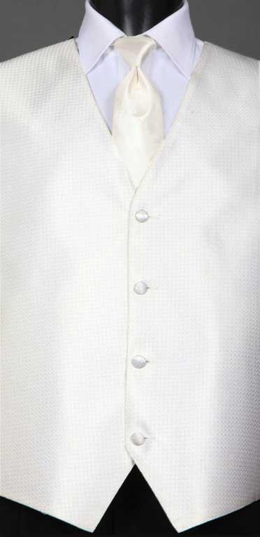 Ivory Devon Vest with Ivory Windsor tie