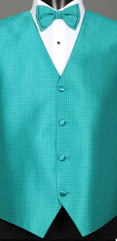 Jade Devon Vest with Matching Bow Tie