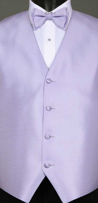 Lilac Devon Vest with matching bow tie