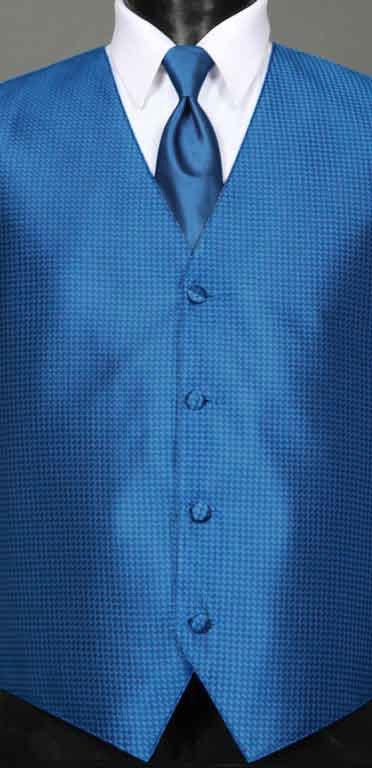 Marine Blue Devon Vest with matching Windsor tie