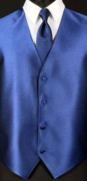 Navy Devon Vest with matching Windsor tie