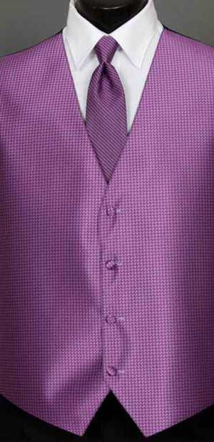 Persian Plum Devon vest with Persian Plum Simply Solid Windsor tie