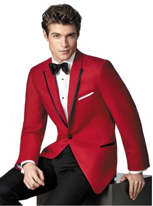 Red Carter Tuxedo by Ike Behar